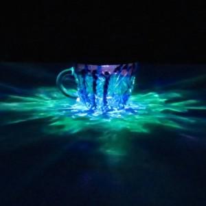 HandPainted Green/Blue/Purple Solar Luminary