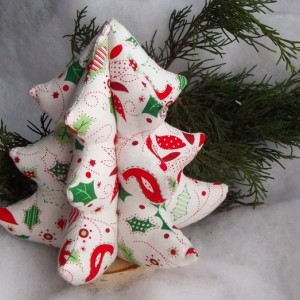 Fabric Christmas Tree, Soft Sculpture Tree, Holiday Decoration