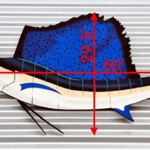 Sailfish Wall Art for Fisherman, Husband, Boyfriend, Dad for Birthday, Anniversary, Father's Day or Your Coastal Beach House