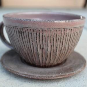 Ceramic Cappuccino Mug + Saucer