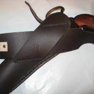 "Cross Draw Cowboy Western Leather Holster & Gun Belt Rig 4-1/2"" to 9-1/2"" Barrel"