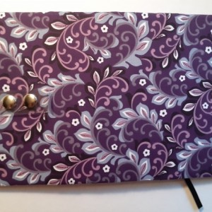 Read E-Z book cover/holder in Violet Rapture fabric