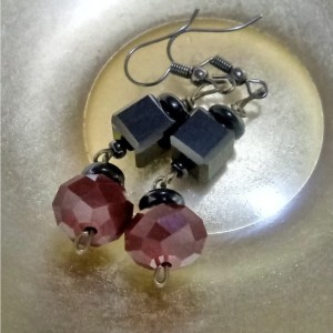 Red and Black Vap Earrings