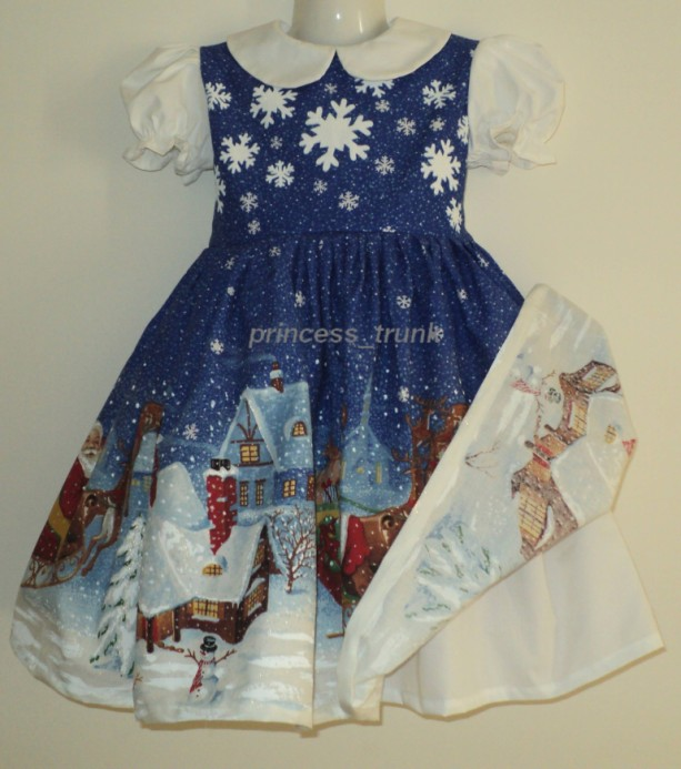 NEW Handmade Daisy Kingdom Twas the Night Christmas Dress Deluxe Custom Size