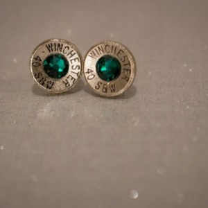 .40 S&W Bullet Stud Earrings - Nickel