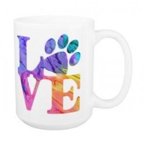 Dog Lover Mug - Love Paw Print 4P - Pet Lover - Dog Lover Gift - Cat Lover Mug - Pet Lover Gifts - Dog Coffee Mug - Cat Coffee Mug - Dog Mug