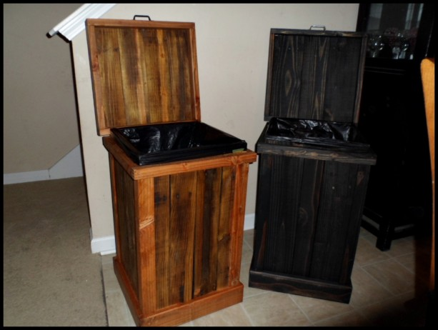 Ordinaire ... Rustic 30 Gallon Wood Trash Can ...