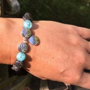 Faith Aromatherapy Essential Oil Diffusing Bracelet