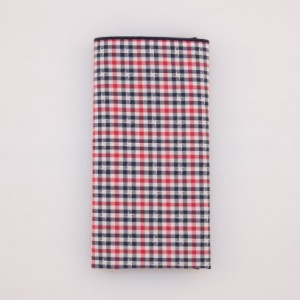 Pocket Square - Red/White/Blue Small Check