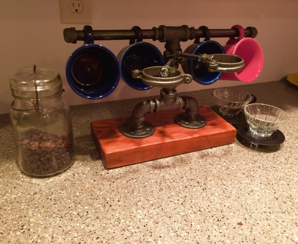 Pour Over Coffee Station Built With Industrial Black Iron