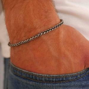 Men's Bracelet - Men's Silver Bracelets - Men's Chain Bracelet - Men's Cuff Bracelet - Men's Jewelry - Men's Gift - Husband Gift - Boyfriend