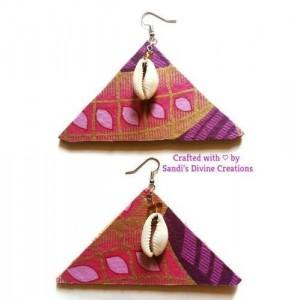 Cowrie Shell, Ankara Earrings, Cowrie Shell Earrings, Beaded Earrings, African Cowrie Shell, African Print Earrings, Ankara Fabric Earrings