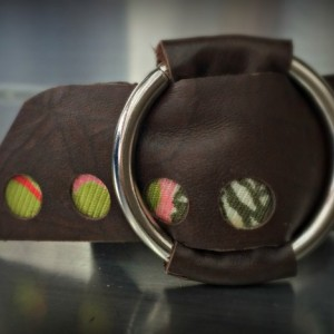 Leather Wrap Cuff with Silver O Ring (Medium)