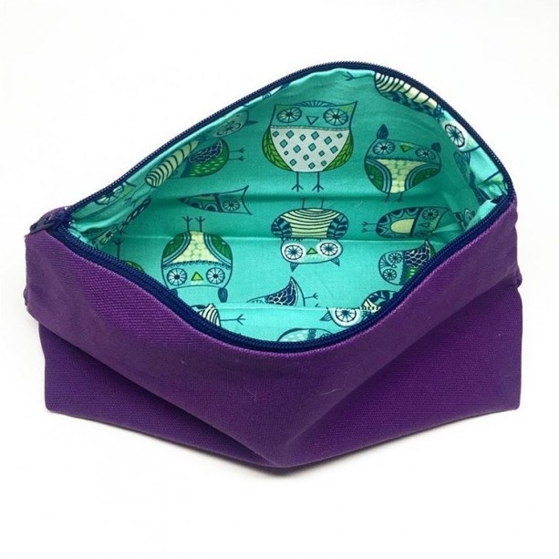 3e340d6a1287 ... Bags Large Cosmetic Bag w  Owl Lining