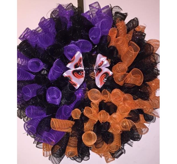 For the Love of Baltimore Deco Mesh Wreath
