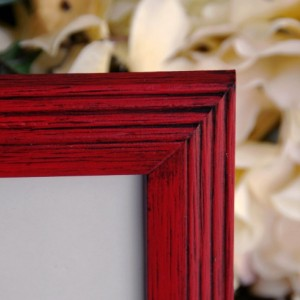 Country farmhouse frame, Red 8x10 wood picture frame, Wall gallery photo frame, Red home decor, Red kids playroom decor, Christmas gift