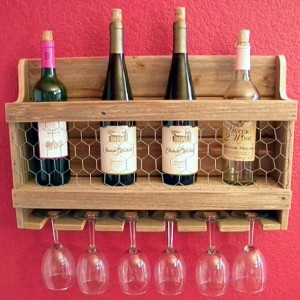 Wine Rack, Rustic Wine Storage, Handcrafted Wine Rack