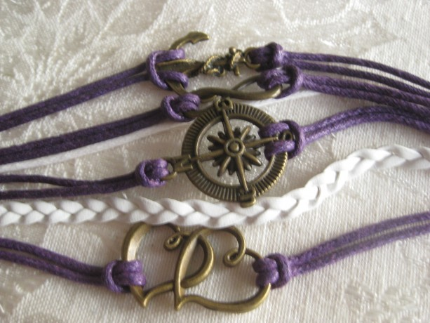 Infinity bracelet Anchor, compass, Double hearts, and Infinity symbol