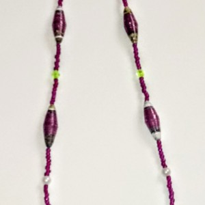 """Oeno"" Paper Bead Necklace"