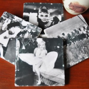 Iconic Picture Coasters. NYC. Ideal for Wedding, Anniversary, Birthday, Christmas, Valentine's Day, Hobby Coasters, Unique Gift. Handmade.