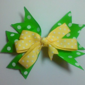 2 pcs Set Little Princess PolkaDot Hairbow matching Set