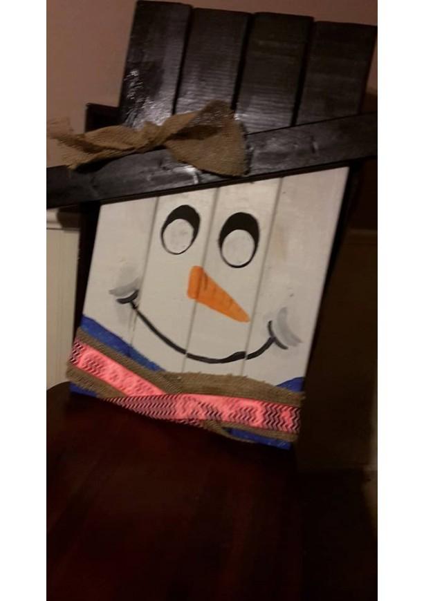 pallet snowman decoration, snowman decor, pallet snowman, reclaimed wood winter decoration, winter decor, porch decoration, porch snowman