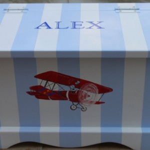 Vintage Airplane Boy Keepsake Chest Memory Box baby gift