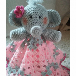 Elephant Lovey Baby Blanket, Comfort Blanket, Security Blanket, Baby Blanket, Baby Shower Gift