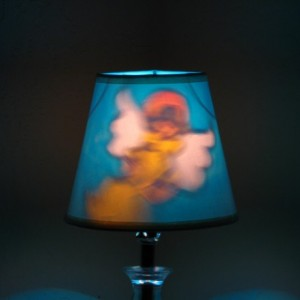 Hand-Painted Angel Mood-Light Bulb