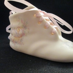 Porcelain Baby Shoe for Girl ---Free PERSONALIZATION