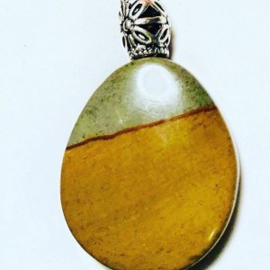Picture Jasper Cabochon and Leather