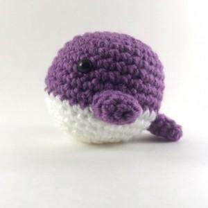Mini amigurumi whale, crochet whale, plush whale, stuffed whale, handmade, under 15, birthday favor, crochet mini animal, whale