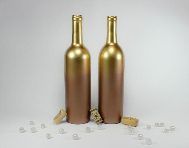 Ombre Gold Copper Wine Bottle Vase Collection Set Of 6 Aftcra
