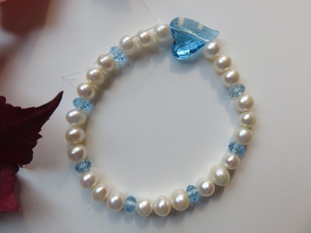Wild Blue Heart of the Ocean Bracelet