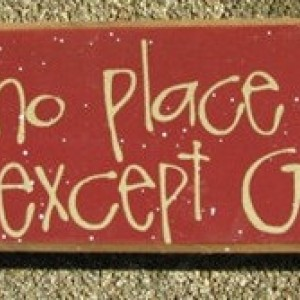 Primitive Country 82161T - There's no place like home except Grandma's Wood Block