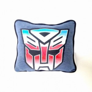 Transformers T-shirt pillow