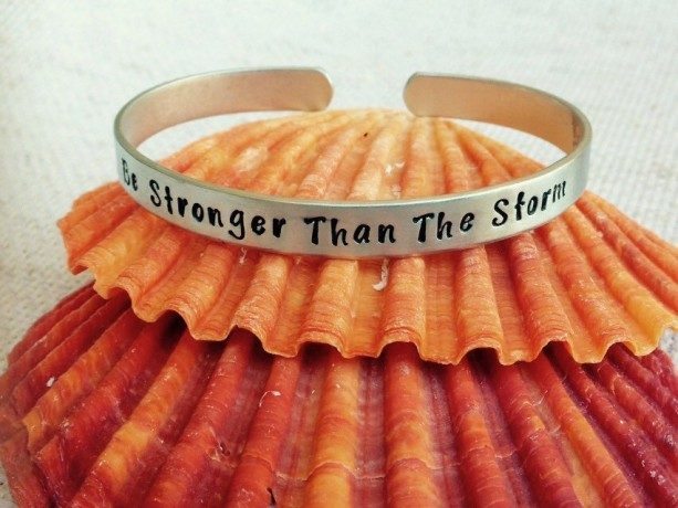 Be Stronger Than the Storm Sterling Silver Cuff Bracelet