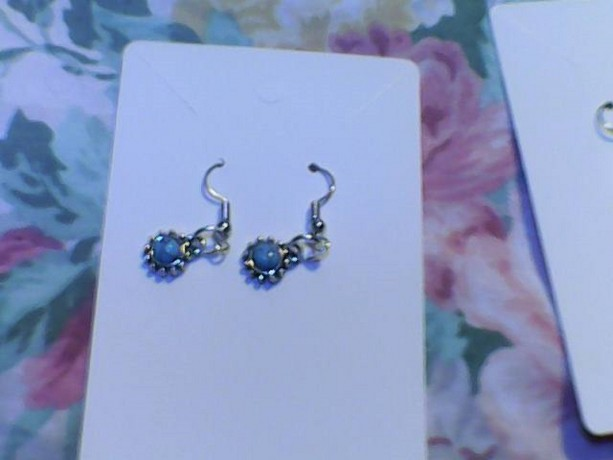 Homemade Silver and Turquoise colored earring