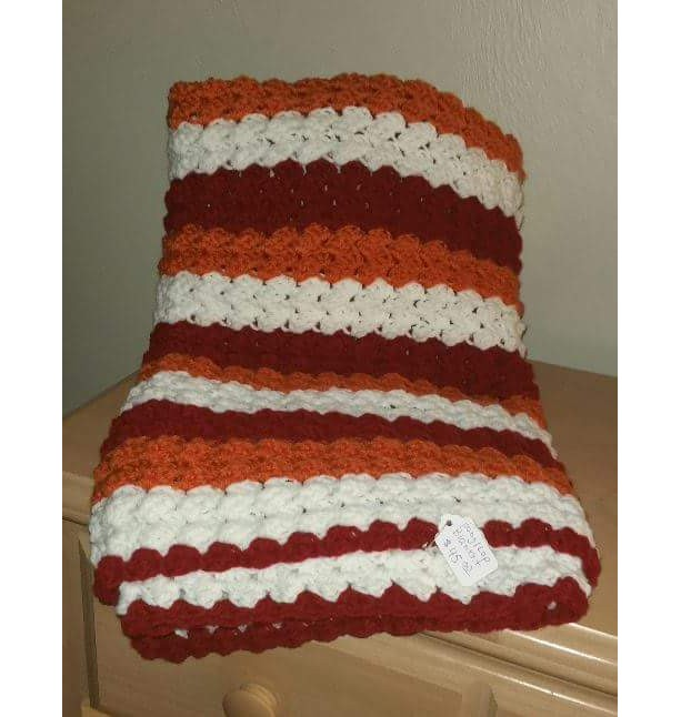 Hand crocheted baby blanket or lap blanket