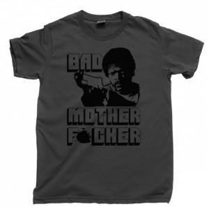 Pulp Fiction Men's T Shirt, Bad Mother F*cker Vincent & Jules Winnfield Quentin Tarantino Movie Unisex Cotton Tee Shirt