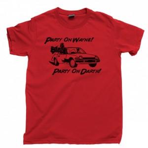 Party On Wayne Party On Darth Men's T Shirt, Garth Vader AMC Pacer Bruce Wayne Batman Unisex Cotton Tee Shirt