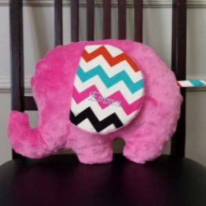 Stuffed Elephant/Plush/Pillow--Medium Size