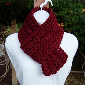 Women's Solid Dark Red INFINITY SCARF Extra Soft Chunky Loop Cowl, Crochet Knit Warm Winter Lightweight Circle Eternity..Ready to Ship in 3 Days