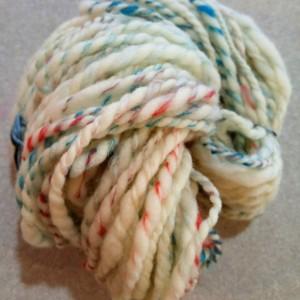 Handspun art yarn- merino- silk- Wool- 1 skeins 62yds- super soft yarn- knitting- crochet- knitting supplies-felting-knit-handspun yarn-yarn