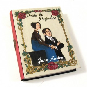Pride & Prejudice 2.0 hideaway book box - unique and hand-decorated.