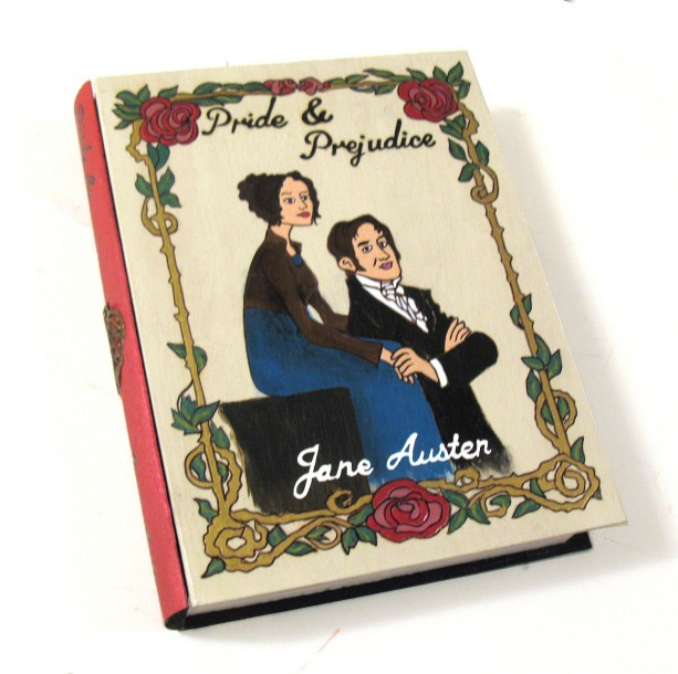 Pride & Prejudice 2.0 hideaway book box - unique and hand-decorated.