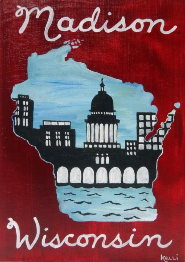 """Madison, Wisconsin 1"" original painting"