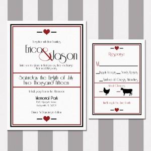 Black and Red Elegant Wedding Invitation, Digital Invitation, Customized Invitation, Printable Invitation, Red Heart, Romantic and Bold