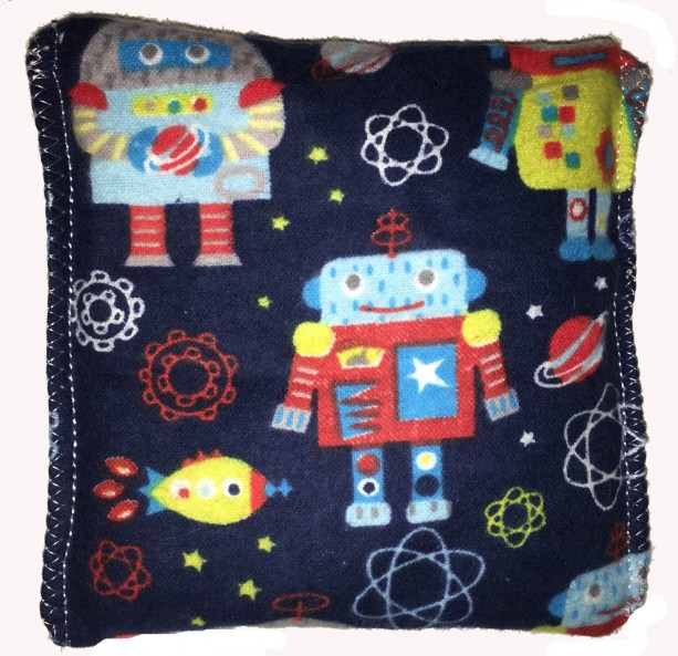 Boo-Boo Bags Hot/Cold Packs Reusable Ouchee Heat Packs 2 BooBoo Packs Total 50's Robots