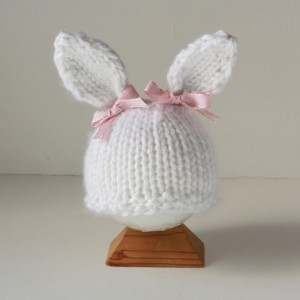 Baby Bunny newborn photo prop hat for Easter